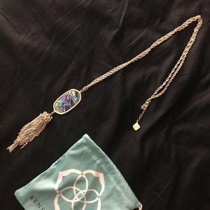 kendra scott necklace (abalone)